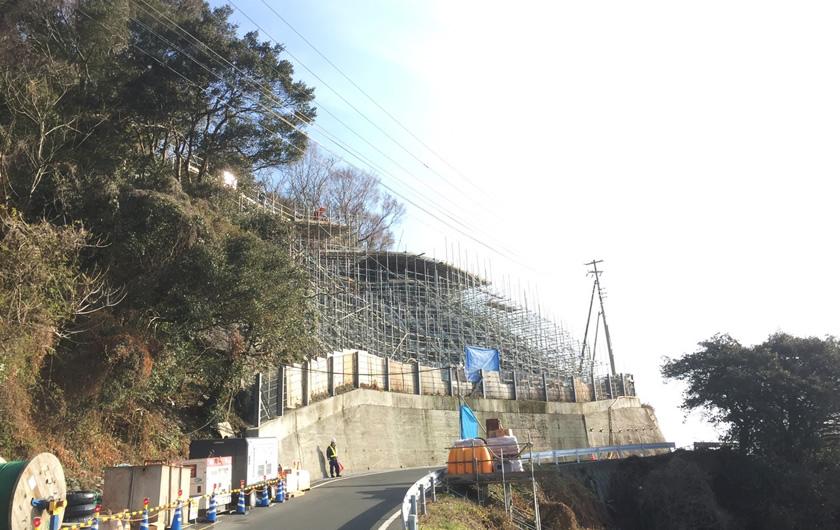 愛媛県西宇和郡アンカー工事(足場)